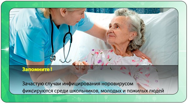 Симптомы норовируса у пожилого человека