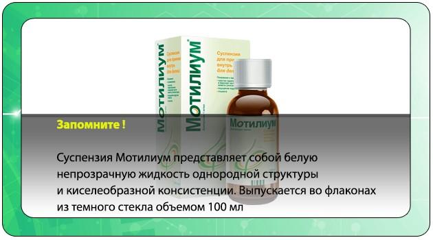 Суспензия Мотилиум