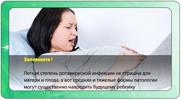 Боли в животе у беременной при ротавирусе