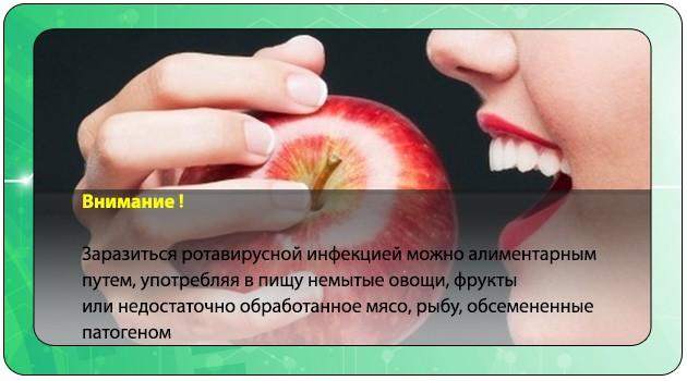 Употребление немытого яблока