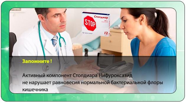 Врач назначает Стопдиар пациентке