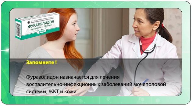 Врач назначает беременной Фуразолидон
